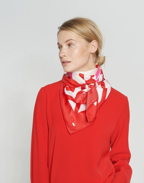 Amate scarf, true red