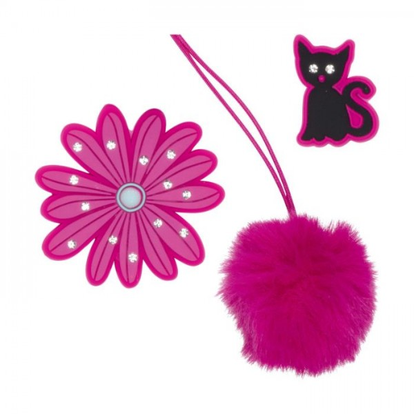 SCOUT FUNNY SNAPS 3ER SET PRETTY PINK