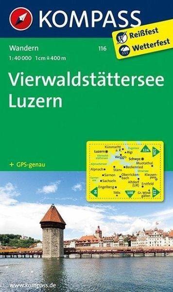 Wanderkarte116 Vierwaldstätter See, Luzer