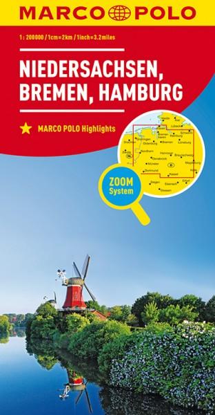 Regionalkarte D03 Niedersachsen,Bremen,Hambg. 1:200.000