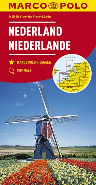 Regionalkarte NL Niederlande 1:200.000