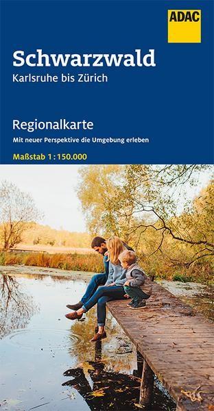 Regionalkarte Schwarzwald, Karlsruhe bis Zürich