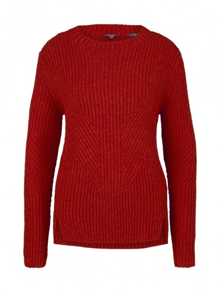 Pullover 2-tone rib