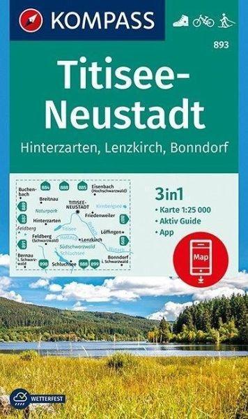 Wanderkarte 893 Titisee-Neustadt