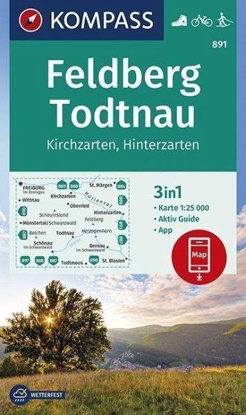 Wanderkarte 891 Feldberg-Todtnau 25T