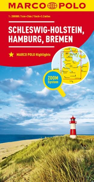 Regionalkarte D01 Schleswig-Holstein,HH, 1:200.000