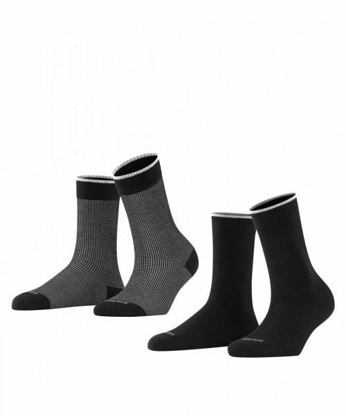 Refined Piqué 2-Pack Damen Socken