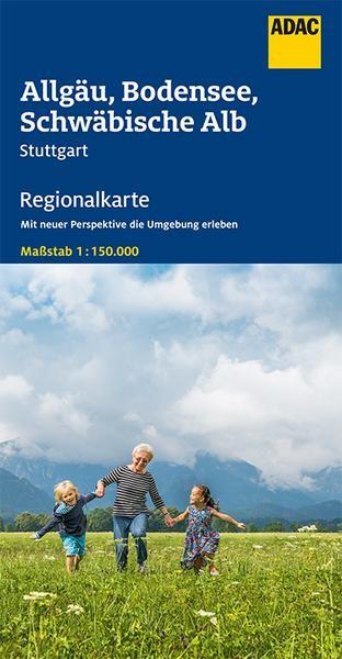 Regionalkarte Allgäu, Bodensee, Schwäbische Alb