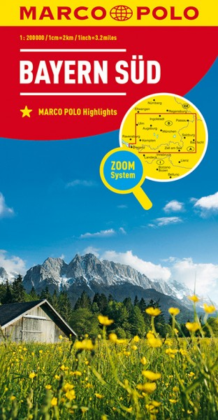 Regionalkarte D13 Bayern Süd 1:200.000