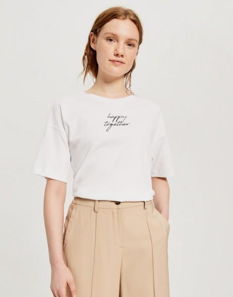 Motiv Shirt mit Schriftzug