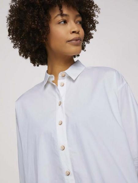 Blusenshirt mit Schlitzdetail