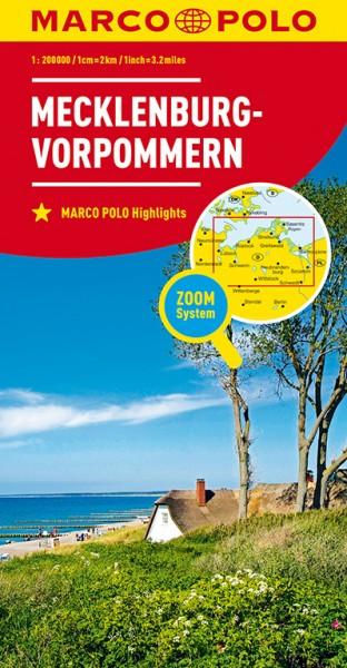 Regionalkarte D02 Mecklenburg-Vorpommern 1:200.000
