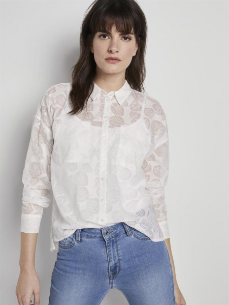 BLUSE MIT BURN-OUT MUSTER