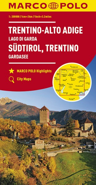 Regionalkarte I03 Südtirol, Trentino 1:200.000