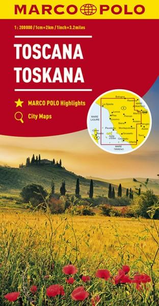 Regionalkarte I07 Toskana 1:200.000