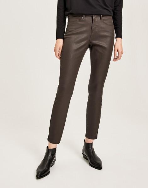 Coated-Jeans Emily zip