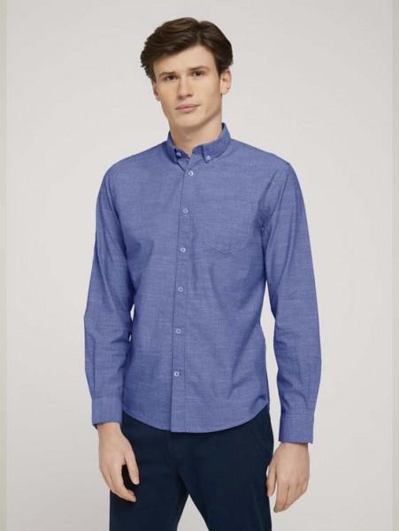 gemustertes Hemd mit Bio-Baumwolle