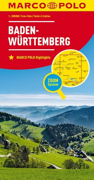 Regionalkarte D11 Baden-Württemberg 1:200.000