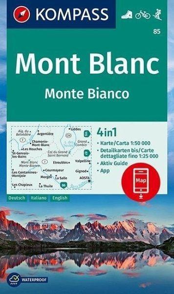 Wanderkarte 85 Monte Bianco/Mont Blanc
