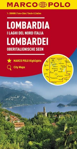 Regionalkarte I02 Lombardei 1:200.000