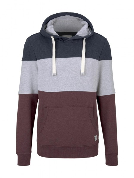cutline hoodie with colorblock