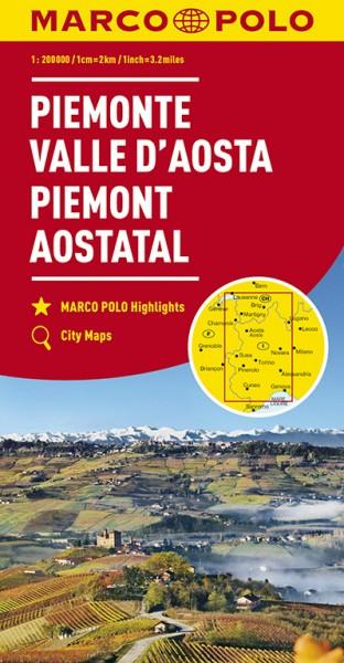 Regionalkarte I01 Piemont, Aostatal 1:200.000