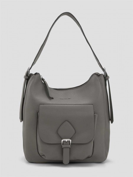 MILANA Hobo bag, grey