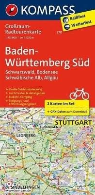 Großraum Baden-Württemberg Radtouren-Karte 3711  1:125 000