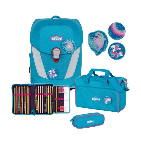 SCOUT SUNNY II 4-SET DOLPHINS MIT SNAPS