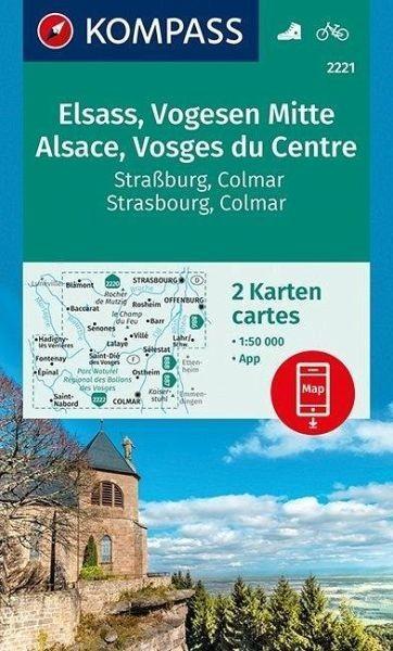 Wanderkarte 2221 Elsass/Vogesen MItte