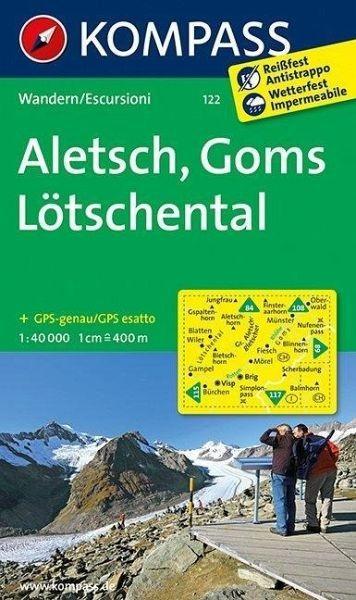 Wanderkarte 122 Aletsch/Goms/Lötschental 4