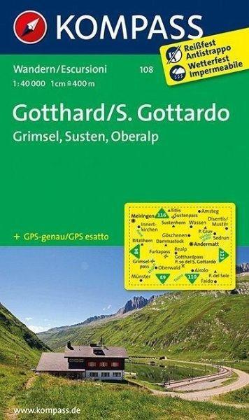 Wanderkarte 108 Gotthard-Grimsel S 40T