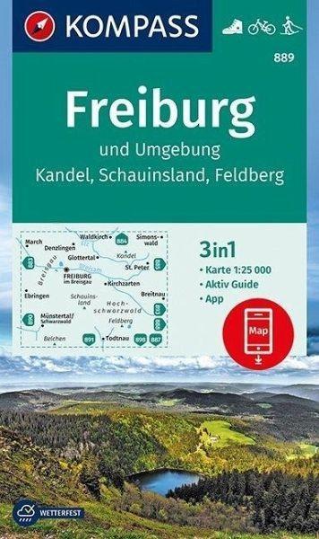 Wanderkarte 889 Freiburg