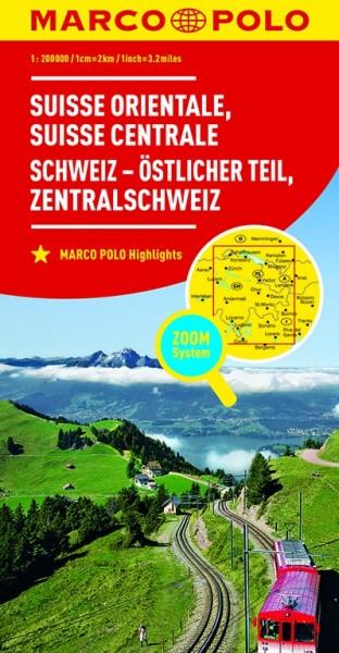 Regionalkarte CH02 Schweiz, östlicher Teil 1:200.000