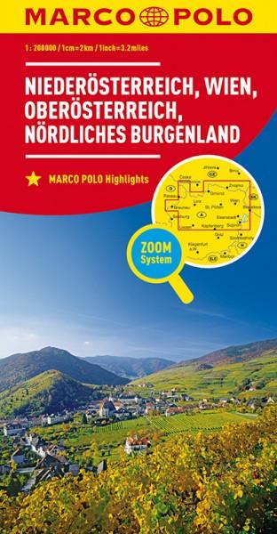 Regionalkarte A01 Nieder-,Oberösterreich,Wien 1:200.000