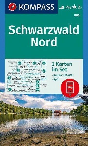 Wanderkarte 886 Schwarzwald Nord