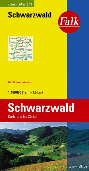Falk Regiokarte D14 Schwarzwald 1:150 000
