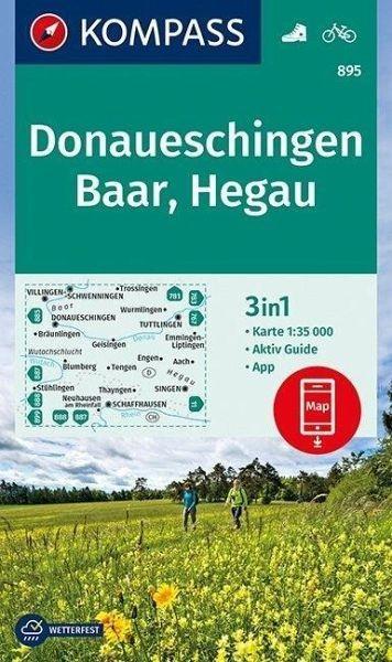 Wanderkarte 895 Donaueschingen/Baar/Hegau
