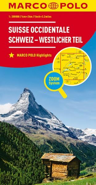Regionalkarte CH01 Schweiz, westlicherTeil 1:200.000