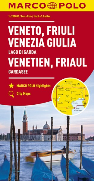 Regionalkarte I04 Venetien, Friaul 1:200.000